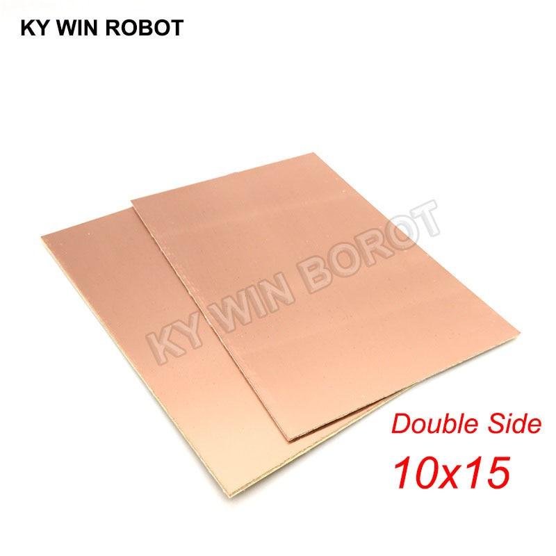 1 шт. FR4 PCB 10*15 см двухсторонняя медная плакированная пластина DIY PCB Kit ламинатная печатная плата 10x15 см 100x150x1,6 мм