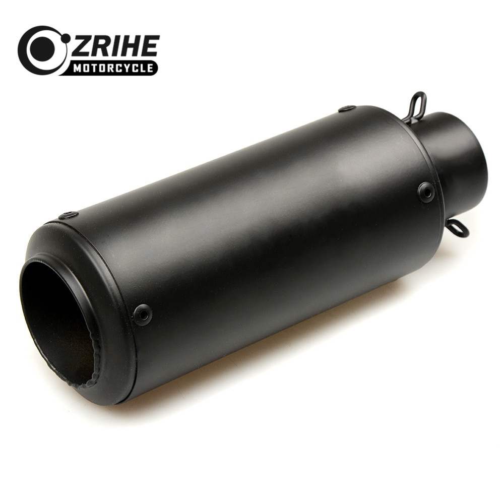 Tubo de escape de motocicleta de acero inoxidable de 37-61mm ZRIHE tubo de escape Universal para KTM YAMAHA BMW SUZUKI KAWASAKI DUCATI