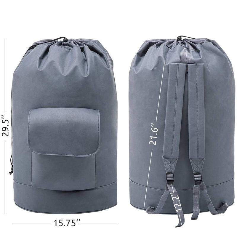 2021 Laundry Bag Backpack with Adjustable Shoulder Straps Drawstring Closure Dirty Clothes Backpack