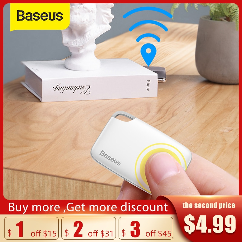 aliexpress.com - Baseus Wireless Smart Tracker Anti-lost Alarm Tracker Key Finder Child Bag Wallet Finder APP GPS Record Anti Lost Alarm Tag