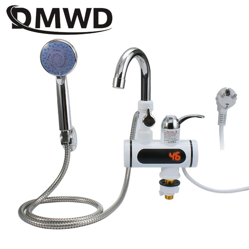 DMWD-صنبور تسخين الماء الساخن الفوري ، 3000 واط ، عرض درجة الحرارة ، بدون خزان لحظية ، صنبور تسخين كهربائي بارد