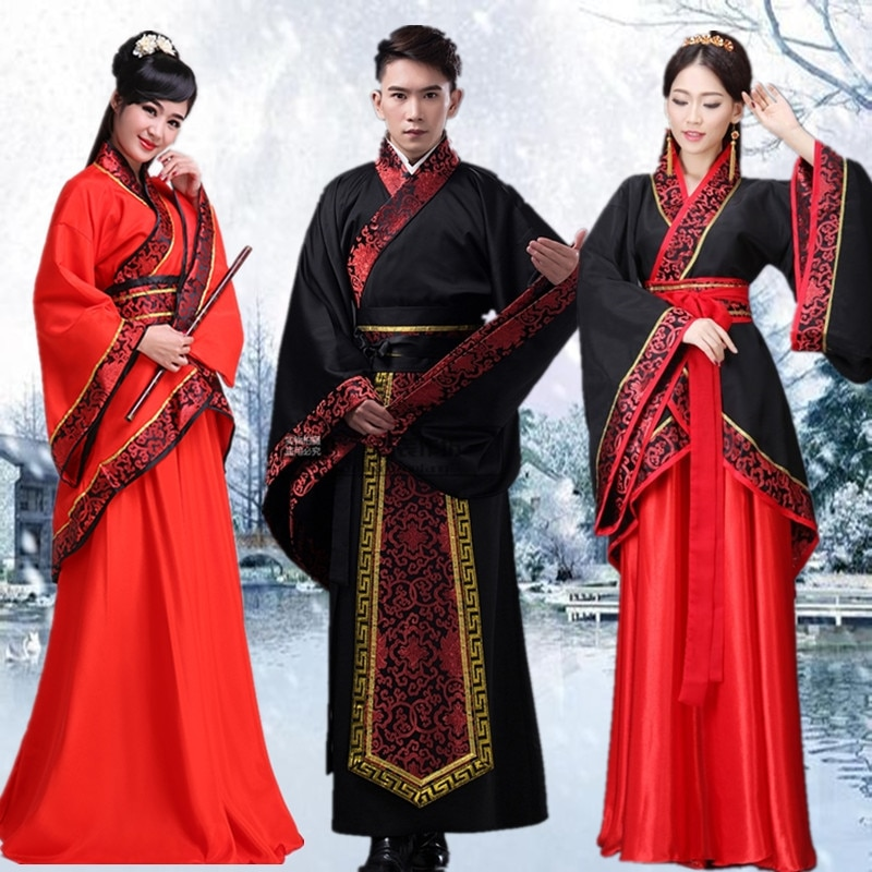Hanfu National Chinese Dance Costume Men Ancient Cosplay Traditional Chinese Clothing for Women Hanfu Clothes Lady Stage Dress недорого