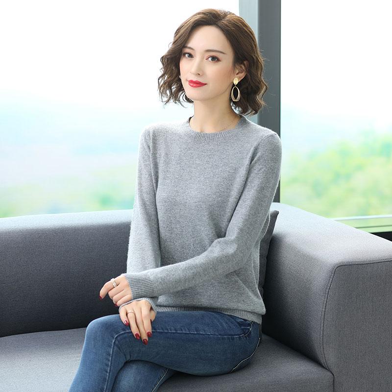 Winter Women Cashmere Sweater Gray Black Khaki Beige Basic Knitwear Sheep Wool Knitted Top Pull Femme Soft Warm Plain Jersey enlarge