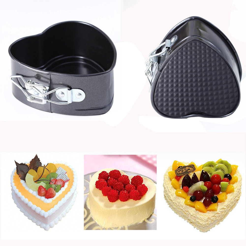 Moule gateau сковорода для торта Форма де Боло антипригарная Любовь Сердце Форма торт Оловянная кастрюля DIY Форма для торта выпечка сырный хлеб лоток посуда 3