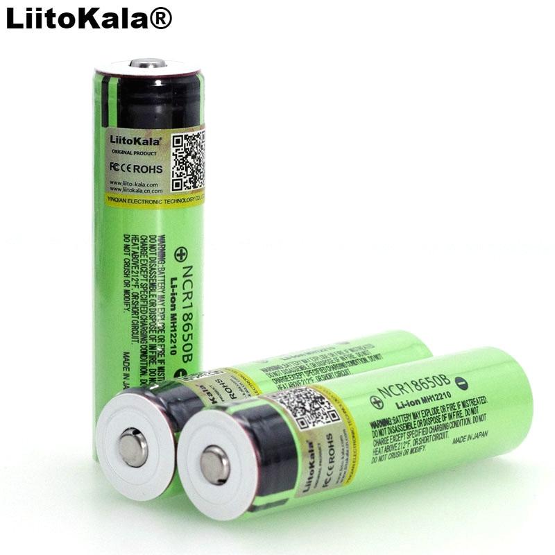 2020 Liitokala Originele NCR18650B 3.7 V 3400 Mah 18650 Lithium Oplaadbare Batterij Met Spitse (Geen Pcb) Batterijen