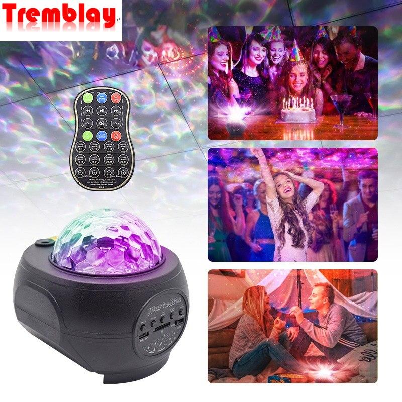 estrela luz do projetor laser bluetooth discoteca lampada efeitos de palco profissional