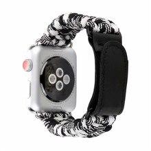 Bracelet en Nylon pour bracelets de montre Apple 42mm 44mm pour bande iwatch 38mm 40mm série 5 4 3 2 1 Bracelet de survie Paracord
