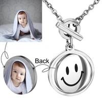 aiyanishi mothers day round photo necklaces personalized custom name photo chain necklace women men customized jewelry wholesale