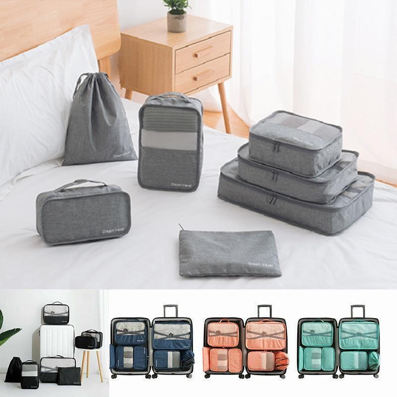 Maternity Diaper Bag Men Travel Bags Sets Waterproof Packing Cube Clothing Sorting Organizer Women Travel Luggage Bag Set