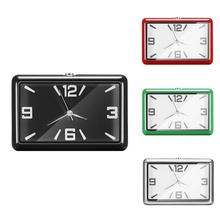 Fashion Square Mini Car Clock Interior Decoration Self-adhesive Electronic Vent Clip Watch for Car S