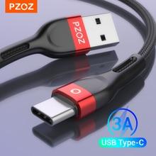 PZOZ usb c כבל סוג c כבל מהיר טעינת נתונים כבל מטען usb כבל c עבור Samsung S21 S20 S10 s9 A51 xiaomi mi 10 redmi הערה 9s 8t