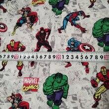 Magnifique les Avengers   100% coton, Hulk superman, tissu de chemise imprimé Patchwork de couture, vêtements de chemise pour enfants, bricolage