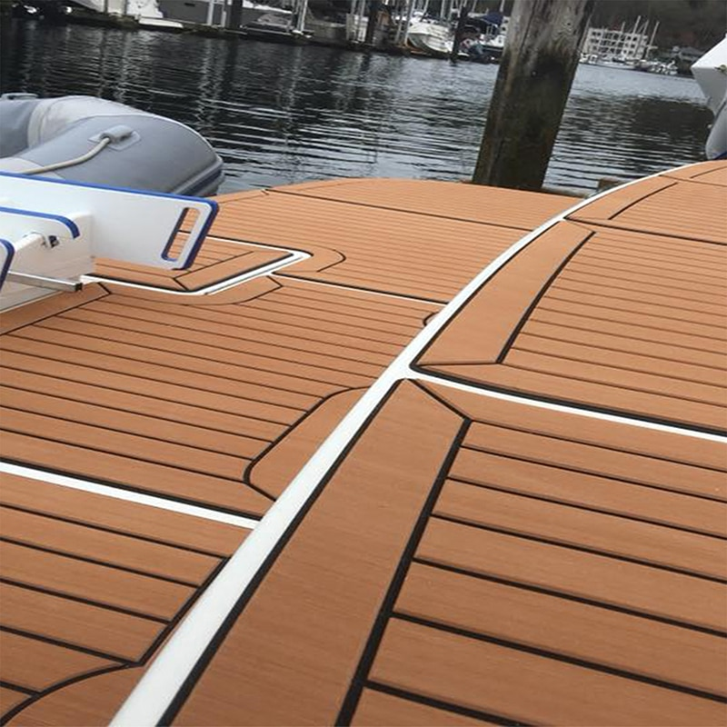 2400x600x5mm Self Adhesive EVA Foam Teak Sheet Mat Decking Car Boat Sea Swim Yacht Synthetic Marine Acessories Flooring Pad Grey enlarge