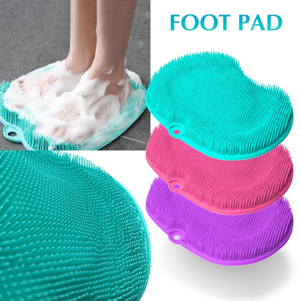 Shower Foot Scrubber Massager Cleaner Silicone Footpad Lazy Washer Tools Bathroom Bath Foot Brushes Remove Dead Skin
