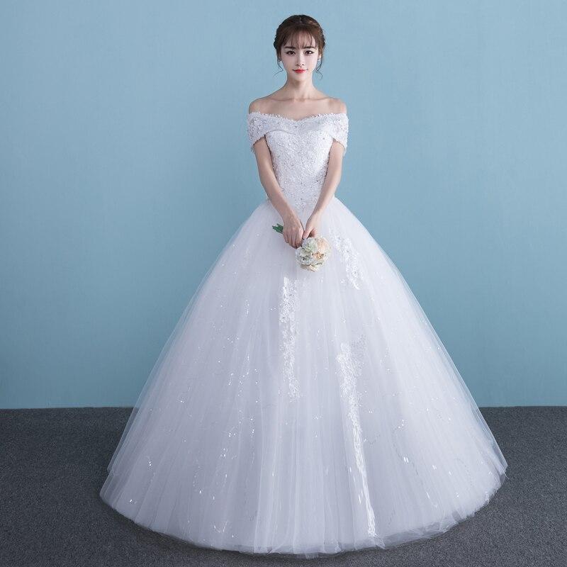 فستان زفاف من الدانتيل ، مقاس كبير ، ثوب كرة