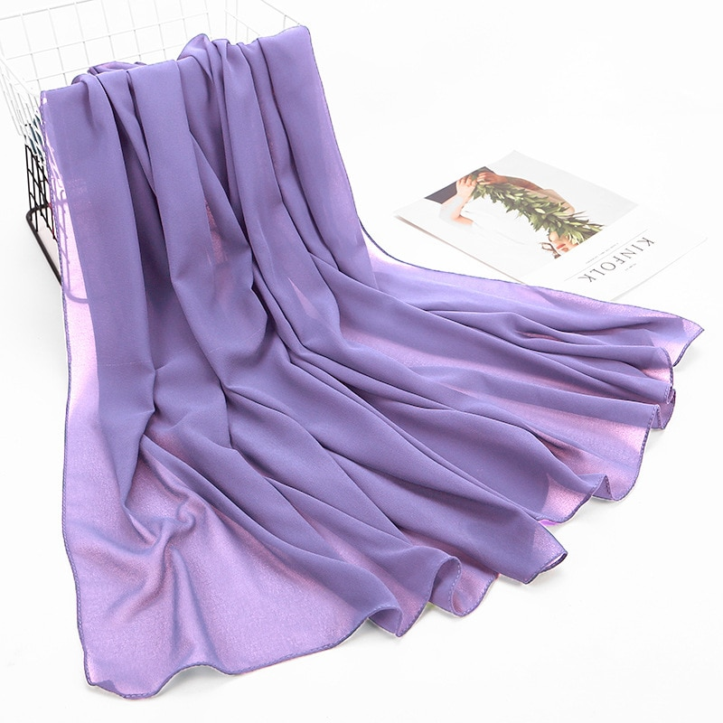 pleated hijab muslim fashion accessories hijab for women crinkle scarf chiffon headscarf for ladies solid color head wrap 85x180CM Solid Color Chiffon Hijab Big Size Scarf For Muslim Women Headscarf Ladies Headwraps Hijab Fashion Islam Scarves
