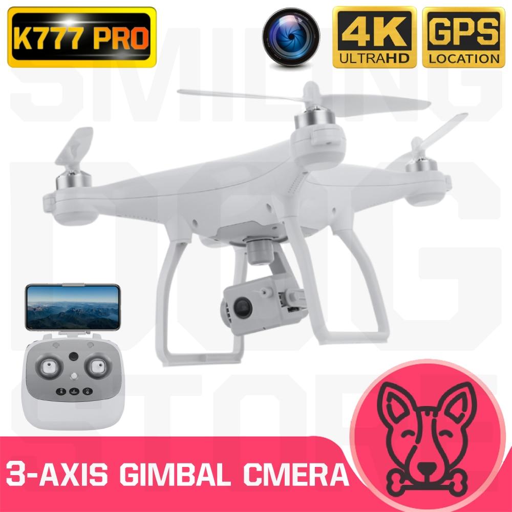 K777 pro zangão 4 k gps 3-axis cardan hd câmera 5g wifi brushless drones do motor dron profissional 22 min vôo rc quadcopter vs x35