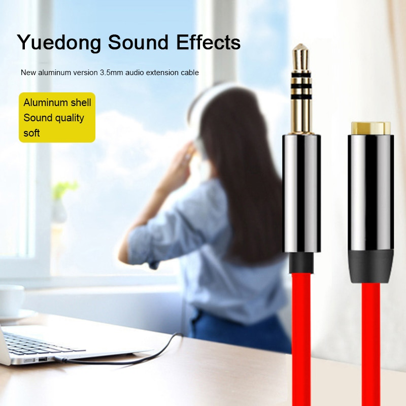 Cable divisor de Audio Jack de 3,5mm para auriculares macho a hembra Cable de extensión auxiliar para auriculares Cable de altavoz para PC
