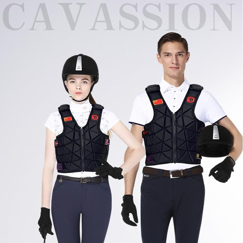 Cavassion-6Flex Equestrian Armor Adult Protective Vest High-thickness shock-absorbing layer safety guarante