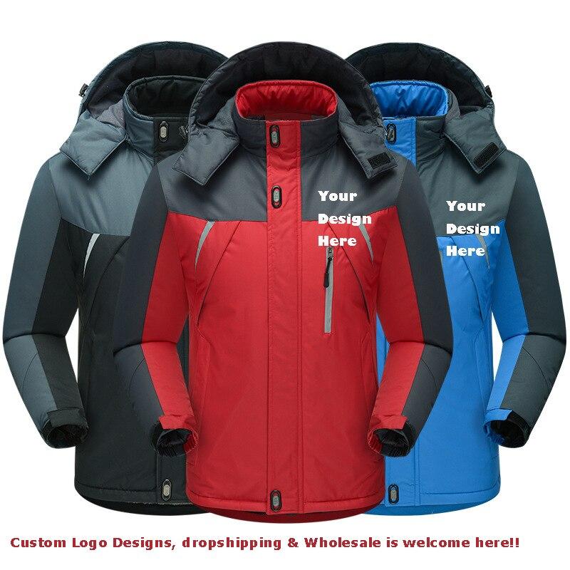 Мужская зимняя водонепроницаемая ветровка, куртки, утепленная верхняя одежда, пальто, толстовки, парки, теплые парки, индивидуальный дизайн...