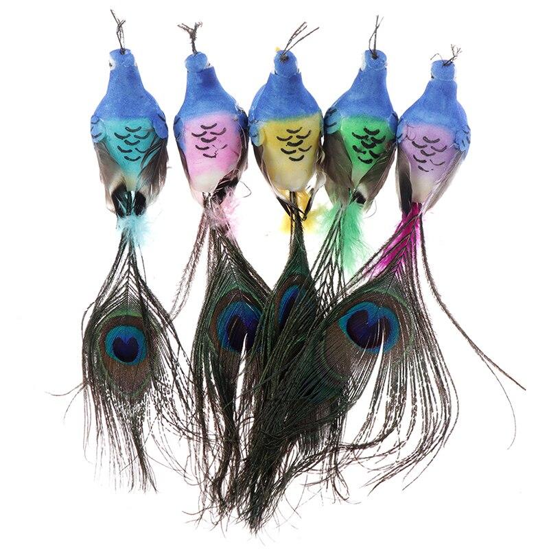 Декоративные птицы, искусственные пенные перья птицы, мини-Павлин для Bpirthday вечерние украшения для взрослых, украшение для свадебного стола