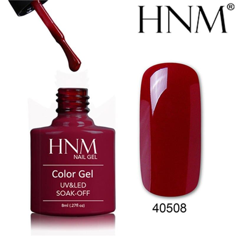 HNM 8ML UV Gel Nail Polish Pure Color Nail Gel Long Lasting Stamping Enamel Paint Gellak Hybrid Glue Varnish Nails Gelpolish
