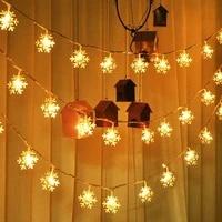 1m3m6m fairy lights snowflakes led light garland lights christmas decoration garland christmas lights room decor wedding decor