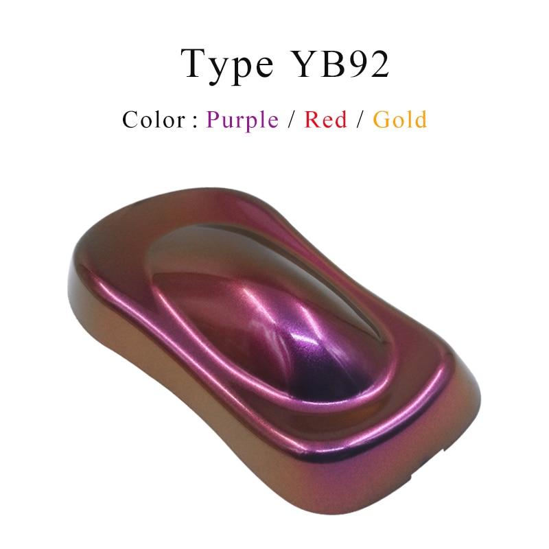 Pigmentos de camaleón YB92, pintura acrílica en polvo, pintura en polvo, colorante para rotuladores de camaleón, decoración de Pintura de coches, uñas de manualidades, 10g