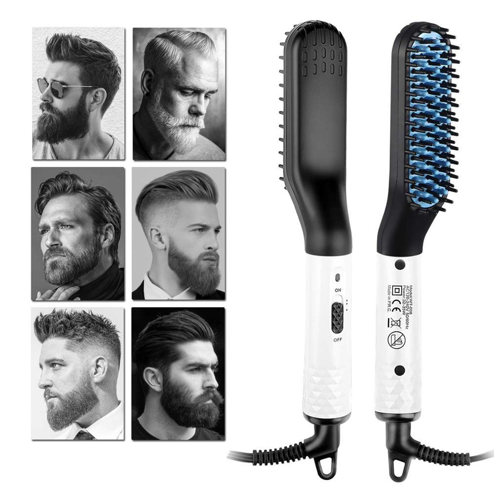 Plancha eléctrica para Barba, peine caliente para hombres, peine alisador de barba, alisador de barba para hombres, cepillo de pan de estilo rápido