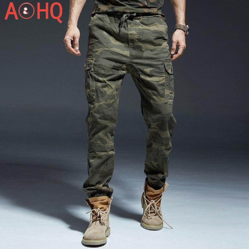 السراويل العسكرية المموه الرجال طول الكاحل مرونة الخصر العداء سراويل تقليدية العسكرية الملابس