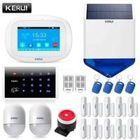 KERUI K52 WIFI GSM systeme dalarme costume 4 3 pouces TFT couleur ecran tactile telephone intelligent APP telecommande systeme de securite a domicile