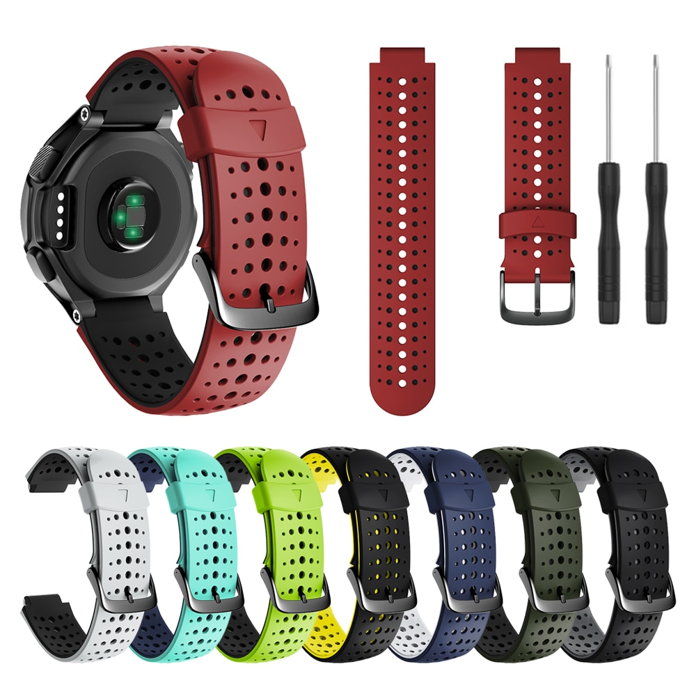 Sport Silicone Wrist Strap For Garmin Forerunner 235 220 230 620 630 735XT Watch Band Watchband Brac