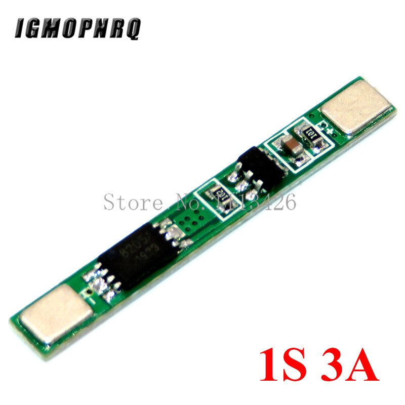 5 шт./лот 1S 3,7 V 3A li-ion BMS PCM плата защиты батареи pcm для 18650 литий-ионного аккумулятора