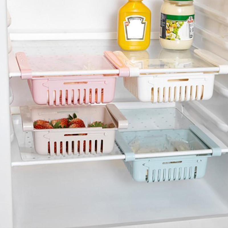 Estante de almacenamiento ajustable para refrigerador estante para nevera cajón organizador de cocina de estante cesta de lavado de frutas y verduras