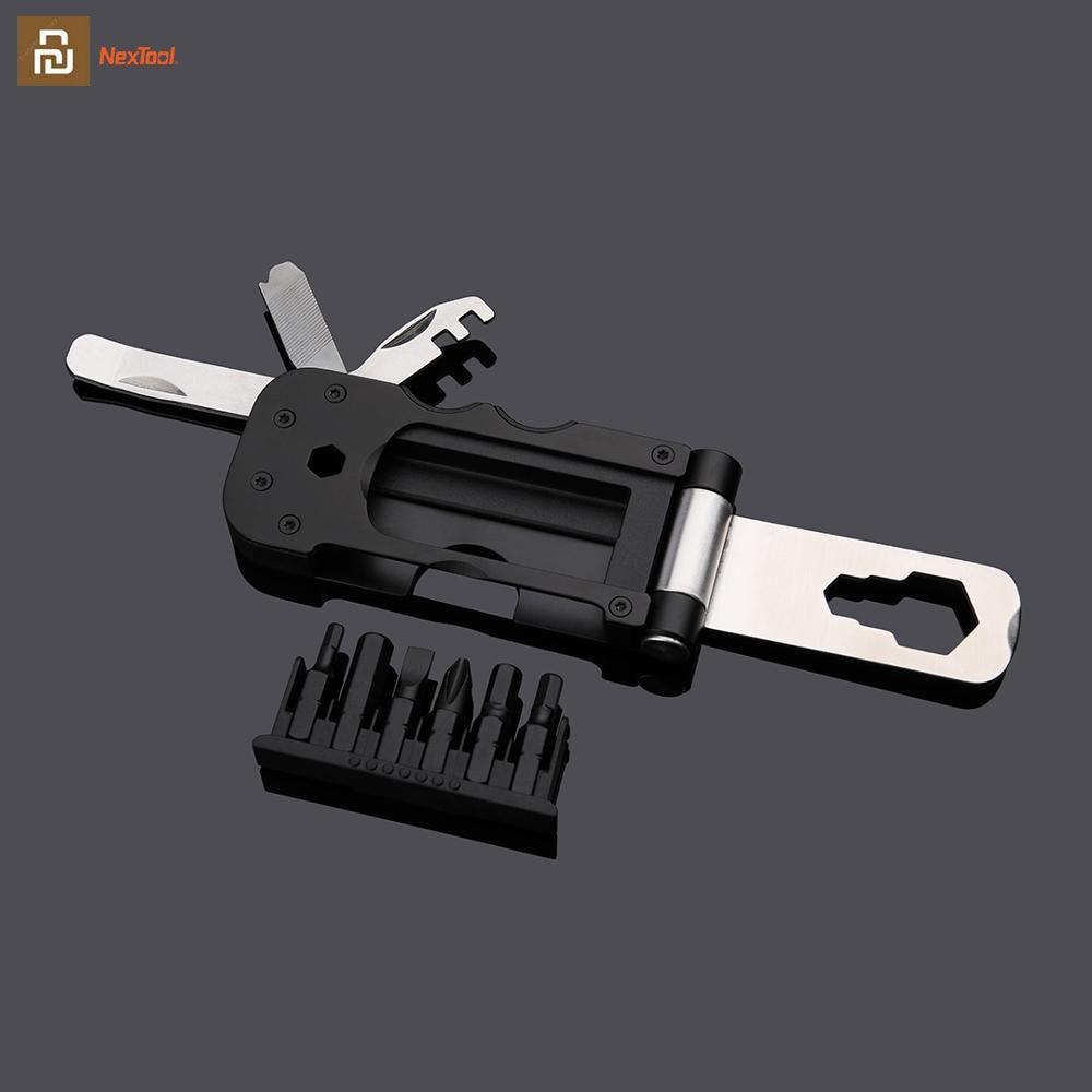 Youpin NexTool herramienta de bicicleta multifuncional Mini bolsillo caja de herramientas de bicicleta llave para exteriores herramienta de reparación manga magnética
