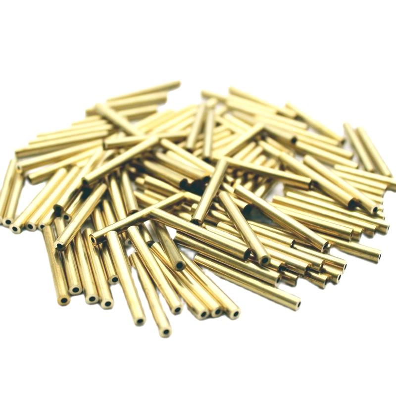 100pcs 3mmx0.75 Wall Thickness 31mm Long Small Brass Tube