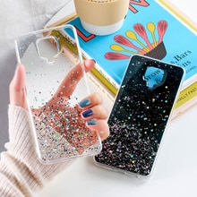 Блестящий чехол для Xiaomi Redmi Note 9 Pro, чехлы с блестками, оболочка для Xiaomi Redmi Note9S 9A 9C NFC, Блестящий Мягкий силиконовый чехол