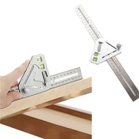 revolutionary carpentry ruler angle ruler multifunctional woodworking triangle level t ruler with 2 bubbles measuring tool