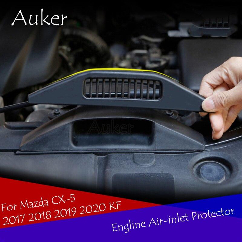 Para Mazda CX-5 CX5 2017 2018 2019 2020 KF entrada de aire del motor de ventilación protectora cubierta de la etiqueta engomada de protección estilo de coche