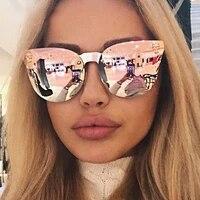 emosnia pink sunglasses rose gold skull oversize sunglasses women brand designer big frame sun glasses for female ladies eyewear