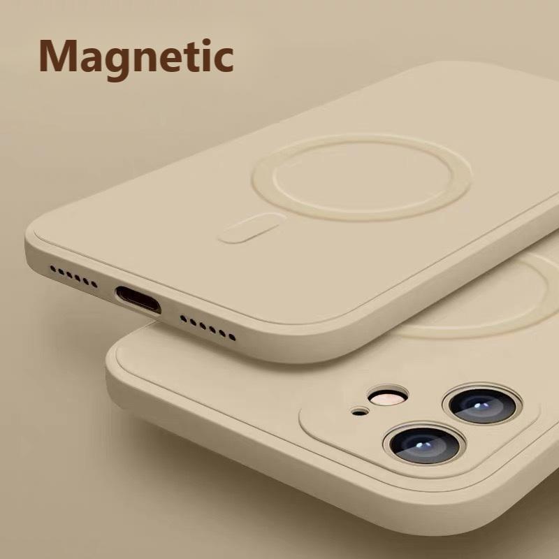 Magnetic Original Liquid Silicone Case for IPhone 12 Pro Max Mini Wireless Luxury Magnetic Soft Cover for iPhone 12 Pro mini Max