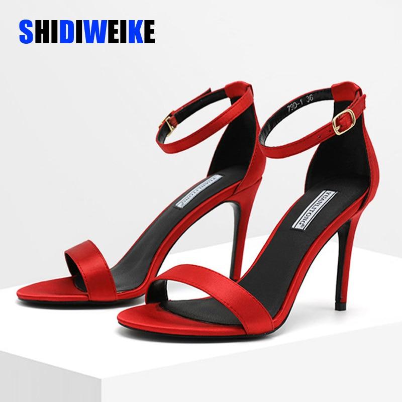 2020 Ankle Strap Heels Women Sandals Summer Shoes Women Open Toe Thin Heels High Heels Party Dress Sandals g986