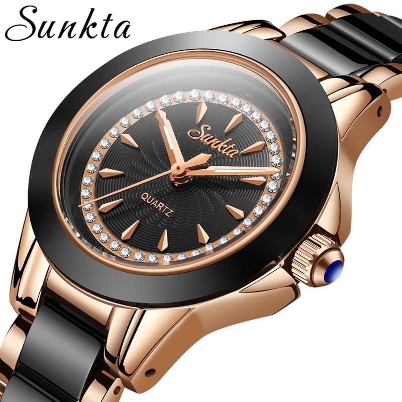 SUNKTA New Listing Women Watches Quartz Watch Ladies Top Brand Luxury Waterproof Female Girl Clock Relogio Feminino