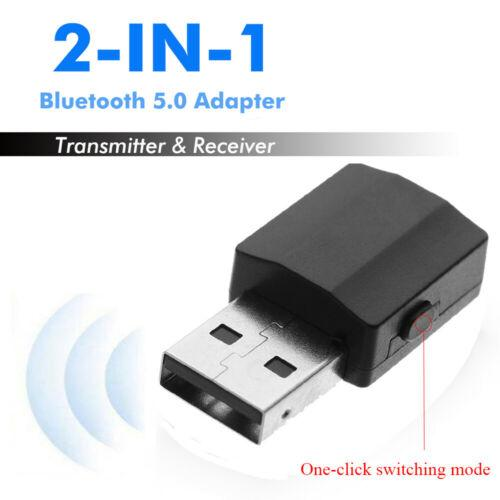 Bluetooth 5.0 Adapter Audio Receiver 2 In 1 USB Transmitter Digital Devices BT 600 for Home Stereo System or CD Player