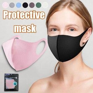 Ледяная Шелковая Маска, противопыльная хлопковая маска для лица, анти-туман, черная стерео 3D маска, респиратор для мужчин, женщин, мужчин, Mascarillas Mascaras