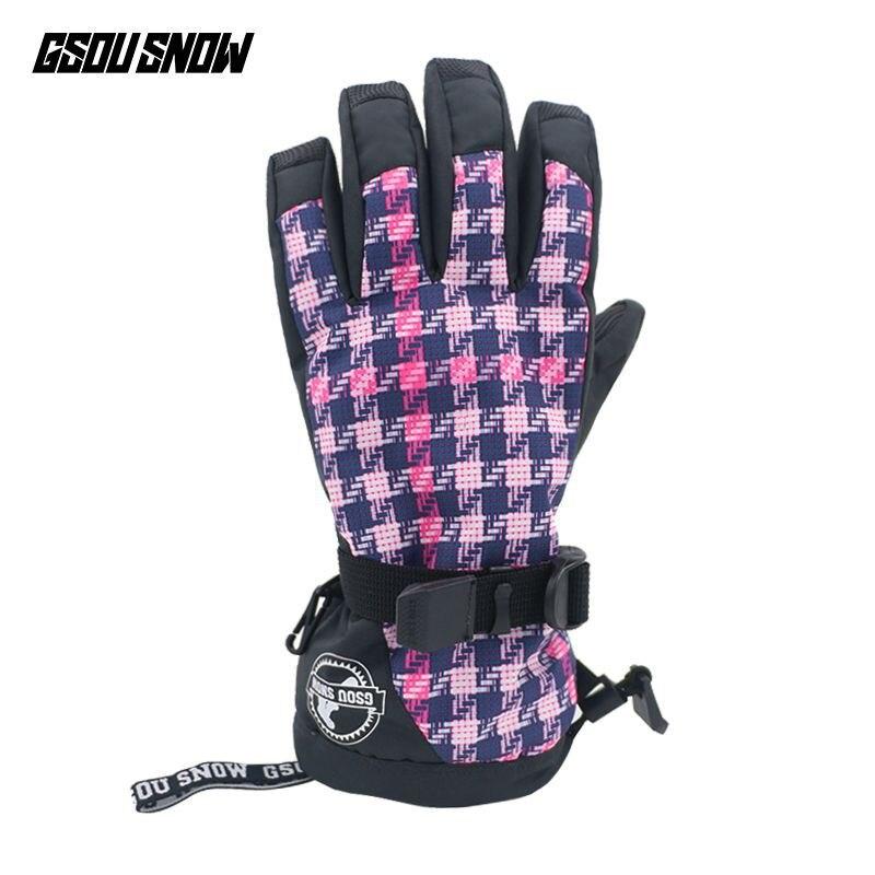 GSOU зимние лыжные перчатки для мужчин и женщин водонепроницаемые теплые перчатки зимние ветрозащитные лыжные перчатки для сноуборда сенсор...