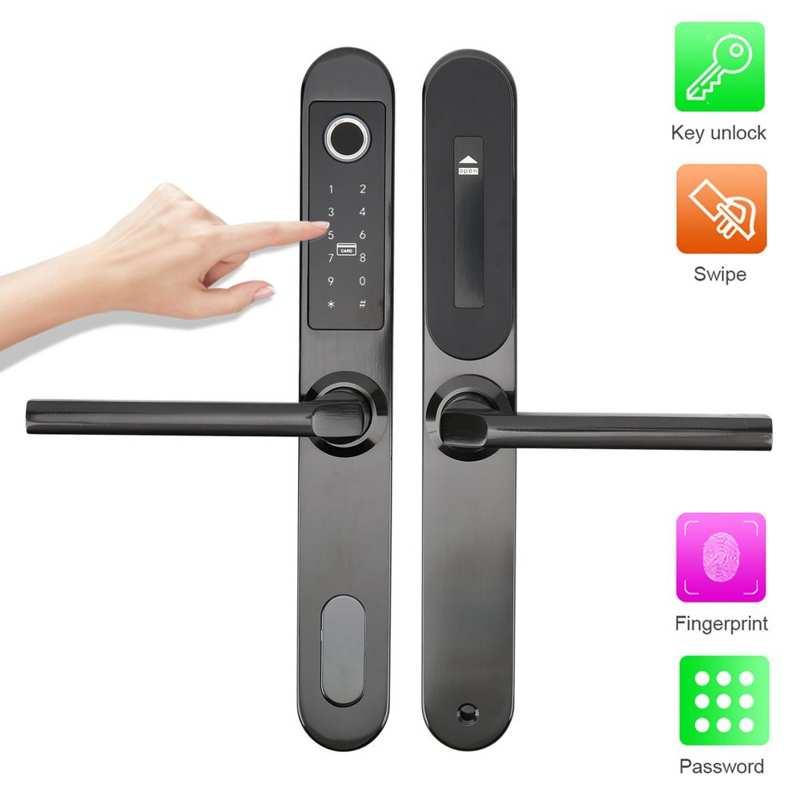 Promo Smart Door Lock Fingerprint Password IC Card Key Unlock Security Entry for Home Office Apartment