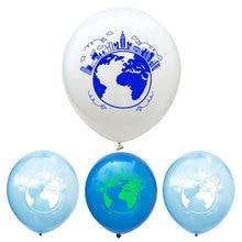 12 pouces carte du monde ballon planète Latex ballons enfants salle de classe fête décoration bébé douche fête danniversaire fournitures Globos