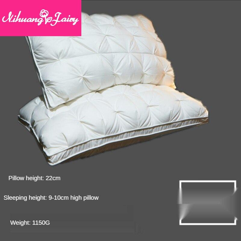 Пара подушек для пятизвездочных отелей, подушки, подушки для двойного дома, подушки для шейного позвоночника, хлопковые подушки для сна
