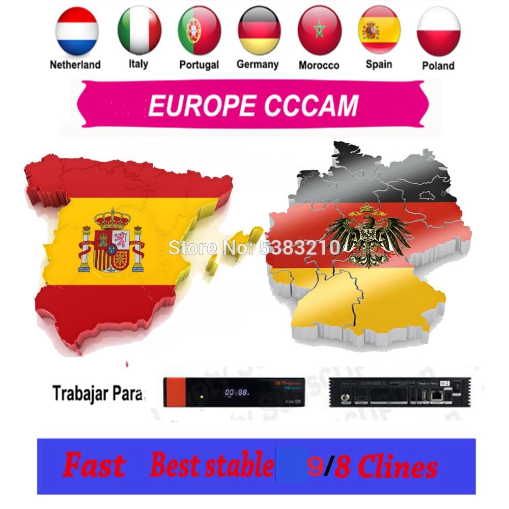 DVB-S2 CCcam Cline Full HD Европа Cccam сервер OScam cline немецкий Португалия 1 год для HD спутниковый ТВ приемник GTmedia V8 Nova